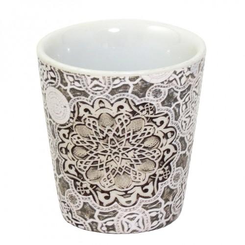 Chupito porcelana cónico